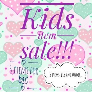 Kids item sales.